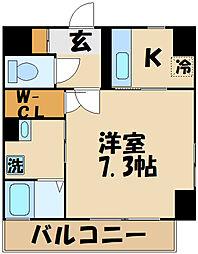 西武多摩川線 多磨駅 徒歩4分の賃貸マンション 2階1Kの間取り