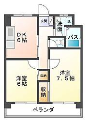 ノーブルライフムラマ[5階]の間取り