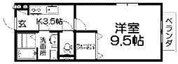 セジュールナカムラ[1階]の間取り