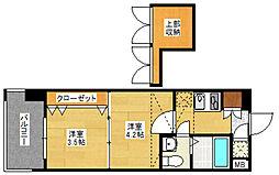 No.60 V-TOWER 天神[15階]の間取り