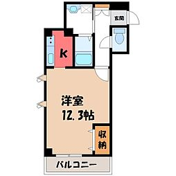 栃木県宇都宮市緑2丁目の賃貸マンションの間取り