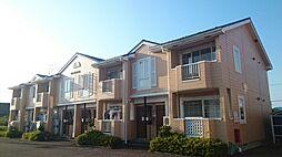 新潟県新潟市西蒲区葉萱場の賃貸アパートの外観