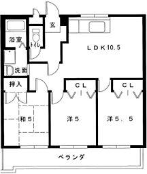 藤蔵ドムス[3階]の間取り