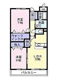 神奈川県綾瀬市深谷の賃貸マンションの間取り