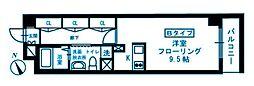 神奈川県横浜市港北区高田東4丁目の賃貸マンションの間取り
