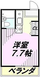 埼玉県川越市東田町の賃貸マンションの間取り