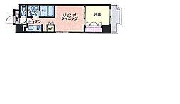 東京メトロ東西線 東陽町駅 徒歩13分の賃貸マンション 6階1LDKの間取り
