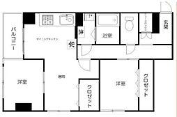 シティマンション上野 4階2LDKの間取り