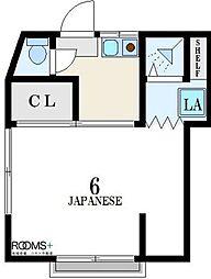 東京都世田谷区羽根木1丁目の賃貸アパートの間取り