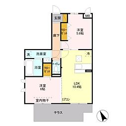 D-room レフィナード[1階]の間取り