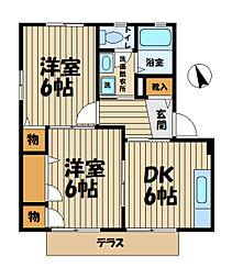 ジュピテ鎌倉[1階]の間取り