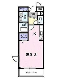 埼玉新都市交通 加茂宮駅 徒歩9分の賃貸マンション 3階ワンルームの間取り