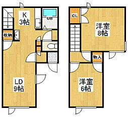 [テラスハウス] 北海道小樽市緑2丁目 の賃貸【/】の間取り