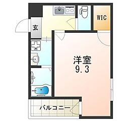 JR片町線(学研都市線) 徳庵駅 徒歩9分の賃貸アパート 3階1Kの間取り
