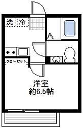 カーサ蒔田[3階]の間取り