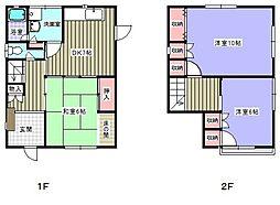 [一戸建] 福岡県太宰府市通古賀2丁目 の賃貸【/】の間取り
