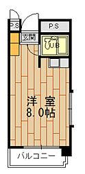 ジェンティール六本松[305号室]の間取り