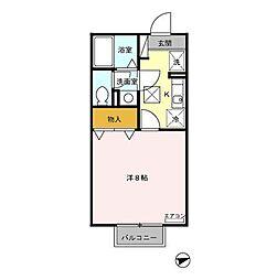 セジュール程島I[1階]の間取り