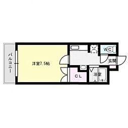 コーポ森[4階]の間取り