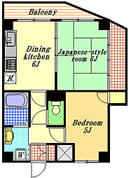 サンライズヨシオカ[3階]の間取り