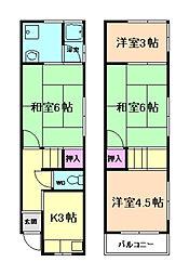 [テラスハウス] 大阪府豊中市小曽根4丁目 の賃貸【/】の間取り