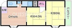第3ロックマンション[2階]の間取り
