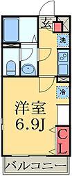 JR京葉線 検見川浜駅 徒歩11分の賃貸マンション 3階1Kの間取り