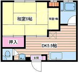 エクセル山田本館[2階]の間取り