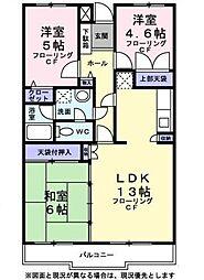 東京都西東京市下保谷2丁目の賃貸マンションの間取り