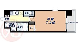 Osaka Metro千日前線 桜川駅 徒歩9分の賃貸マンション 7階1Kの間取り