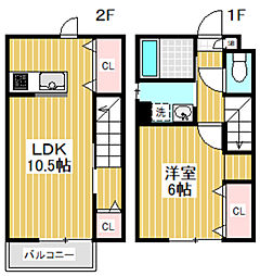 [テラスハウス] 東京都杉並区堀ノ内1丁目 の賃貸【/】の間取り