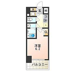 エスリード新大阪ヴェルデ[6階]の間取り