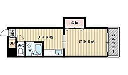 東中島第1土井マンション[9階]の間取り