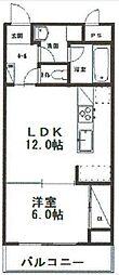 神奈川県川崎市宮前区神木本町3丁目の賃貸マンションの間取り
