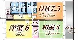 ロイヤル阪神[5階]の間取り