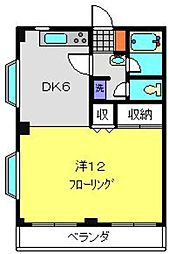 シャトー常盤台[305号室]の間取り