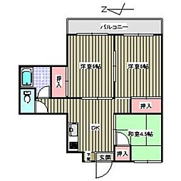 飯倉ビル[507号室]の間取り
