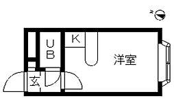 ベルピア・辻堂第6[107号室]の間取り