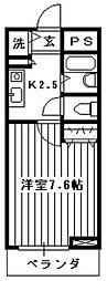 シンフォニー所沢[407号室]の間取り