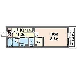 ステラ・アストーレ 2階1Kの間取り