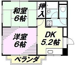 サクセス八日町[4階]の間取り