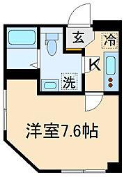 (仮称)世田谷区千歳台3丁目計画 3階1Kの間取り