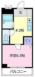 メゾン松原[3階]の間取り