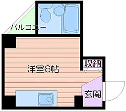 メゾン川崎[4階]の間取り