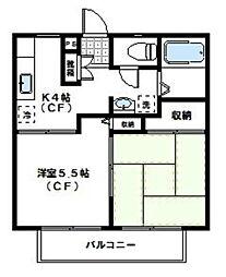 ホームズガーデニア[2階]の間取り