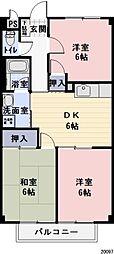 長野県駒ヶ根市赤穂の賃貸アパートの間取り