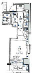 JR横浜線 町田駅 徒歩7分の賃貸マンション 7階1Kの間取り