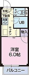 岐阜県美濃加茂市加茂野町今泉の賃貸アパートの間取り