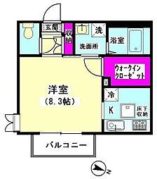 M−Kハウス[102号室]の間取り