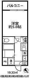 ドミール大倉山[309号室]の間取り